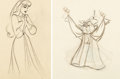 Animation Art:Production Drawing, Sleeping Beauty Briar Rose and Mock Prince AnimationDrawings Group of 2 (Walt Disney, 1959).... (Total: 2 Original Art)