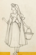 Animation Art:Production Drawing, Sleeping Beauty Briar Rose Animation Drawing (Walt Disney,1959)....