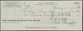 Autographs:Checks, 1962 Carlo Gambino Signed Check....