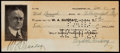 """Autographs:Checks, 1925 Billy Sunday """"Farewell Offering"""" Signed Check...."""