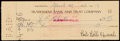 Autographs:Checks, 1956 Bert Bell Signed Check....
