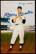 Autographs:Post Cards, 1953-55 Dormand Mickey Mantle Signed Postcard....