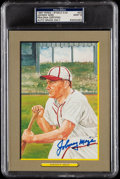 Autographs:Post Cards, 1987 Johnny Mize Signed Perez-Steele Great Moments #23, PSA/DNA MT9. ...