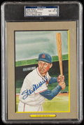 Autographs:Post Cards, 1985 Stan Musial Signed Perez-Steele Great Moments #11, PSA/DNA NM-MT 8. ...