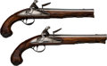 Handguns:Muzzle loading, Pair of Stanton London Flintlock Pistols.... (Total: 2 Items)