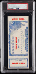 Miscellaneous Collectibles:General, 1960 John F. Kennedy Democratic National Convention Full Ticket PSA EX-MT 6....
