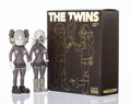 Prints & Multiples, KAWS X Todd James. The Twins (Brown) (two works), 2006. Painted cast vinyl. 8 x 3 x 1-3/4 inches (20.3 x 7.6 x 4.4 cm) (...