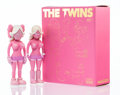 Prints & Multiples, KAWS X Todd James. The Twins (Pink) (two works), 2006. Painted cast vinyl. 8 x 3 x 1-3/4 inches (20.3 x 7.6 x 4.4 cm). E...