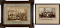 Arms Accessories:Flasks, Schützenfest: Lot of Two Large Framed German Photographs of the Heidenheim Shooting Society, Circa 1892 and Bavarian S... (Total: 2 Items)