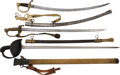 Edged Weapons:Swords, Lot of Three U.S. Swords Circa 1847-1918.... (Total: 3 Items)