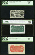 Fractional Currency:Third Issue, 15¢ Third Issue Grant-Sherman Specimen Set.. ... (Total: 3 notes)