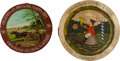 Arms Accessories:Flasks, Schützenfest: Lot of Two German Painted Wood Targets, 1912and 1926.... (Total: 2 Items)