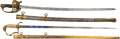 Edged Weapons:Swords, Lot of Two 19 Century U.S. Officers' Swords.... (Total: 2 Items)