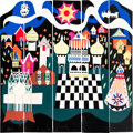 "Animation Art:Limited Edition Cel, Mary Blair ""It's a Small World"" Wooden Panel Group of 5 (c. 1980s-90s).... (Total: 5 Items)"