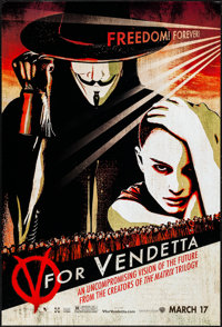 """V for Vendetta (Warner Brothers, 2005). One Sheet (27"""" X 40"""") SS Advance. Action"""
