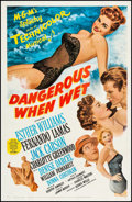 "Movie Posters:Comedy, Dangerous When Wet (MGM, 1953). One Sheet (27"" X 41""). Comedy.. ..."