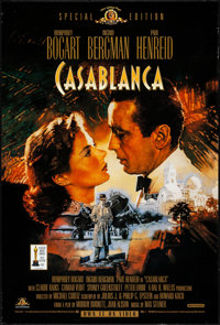 "Casablanca (Warner Bros., R-1998). Rolled, Very Fine. Video One Sheet (27"" X 40"") SS & Video Poster (2..."