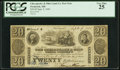 Obsoletes By State:Maryland, Frederick, MD- Chesapeake & Ohio Canal Company $20 Post Note Sep. 9, 1840 PCGS Very Fine 25.. ...