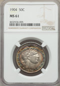 Barber Half Dollars: , 1904 50C MS61 NGC. NGC Census: (14/82). PCGS Population: (6/113). MS61. Mintage 2,992,670. . From The Gary Verner Colle...