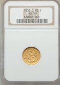 Liberty Quarter Eagles: , 1850-O $2 1/2 AU50 NGC. NGC Census: (43/208). PCGS Population: (23/79). CDN: $825 Whsle. Bid for problem-free NGC/PCGS AU50...