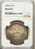 Morgan Dollars: , 1890-CC $1 MS62 Prooflike NGC. NGC Census: (100/171). PCGS Population: (151/290). . From The Indian Collection. ...