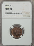 Proof Indian Cents: , 1876 1C PR65 Red and Brown NGC. NGC Census: (47/16). PCGS Population: (64/15). CDN: $800 Whsle. Bid for problem-free NGC/PC...