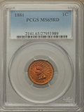 Indian Cents: , 1881 1C MS65 Red PCGS. PCGS Population: (89/29). NGC Census: (35/13). MS65. Mintage 39,211,576. ...