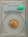 1910-S 1C MS65 Red PCGS. CAC. PCGS Population: (367/146). NGC Census: (124/46). CDN: $575 Whsle. Bid for problem-free NG...