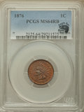 Indian Cents, 1876 1C MS64 Red and Brown PCGS. Eagle Eye Photo Seal. PCGS Population: (284/114). NGC Census: (150/113). CDN: $550 Whsle. ...