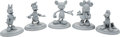 Animation Art:Maquette, Mickey Mouse and Friends Maquette Set of 5 (Walt Disney, c.1980s-90s).... (Total: 5 Items)