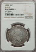 1795 50C 2 Leaves, O-119, T-1, R.4, -- Repaired -- NGC Details. Fine. ...(PCGS# 39236)