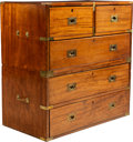 Furniture , An English Mahogany Campaign Chest, early 20th century. 36 x 36 x 19 inches (91.4 x 91.4 x 48.3 cm). ...