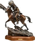 Fine Art - Sculpture, American, Vic Payne (American, b. 1960). Arms of the Mystic Moon,1998. Bronze with brown patina. 24 inches (61.0 cm) high on a 3 ...