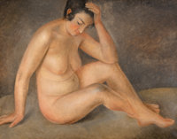Othon Coubine (Czechoslovakian, 1883-1969) Femme Nue Oil on canvas 28-3/4 x 36-1/4 inches (73.0 x