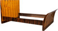 Furniture , A Scandinavian Art Deco Inlaid Zebrawood and Macassar Ebony Daybed, circa 1930. 38 x 80 x 53-1/4 inches (96.5 x 203.2 x 135....