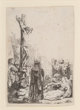 Rembrandt van Rijn (Dutch, 1606-1669) The Crucifixion: Small Plate, circa 1635 Etching on laid paper 3-3/4 x 2-1/8 in