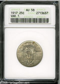 Standing Liberty Quarters: , 1917 25C Type One AU58 ANACS. ...
