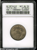 "Standing Liberty Quarters: , 1917-D 25C Type One AU50--Corroded, Cleaned--ANACS, AU Details. The current Coin Dealer Newsletter (Greysheet) wholesale ""bid..."
