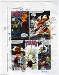 Original Comic Art:Miscellaneous, John Buscema and Tom Palmer Color Guide Original Art (Marvel, undated). The Mighty Thor draws a rampaging Goliath's attentio...
