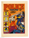 Original Comic Art:Miscellaneous, Gill Fox - Police Comics #3 Color Printer's Proof (Quality, 1941).The newest comic sensation, the Firebrand, brings his own...
