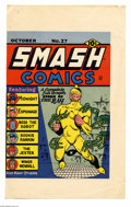 Original Comic Art:Miscellaneous, Gill Fox - Smash Comics #27 Cover Printers Proof (Quality, 1941).The Ray takes the spotlight in this thrill-packed cover fr...