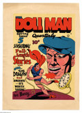 Original Comic Art:Miscellaneous, Gill Fox - The Doll Man Quarterly #2 Color Printer's Proof(Quality, 1942). Time is on his side, as the diminutive Doll Man...