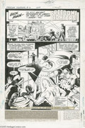 Original Comic Art:Splash Pages, Ramona Fradon and Juan Canale - Freedom Fighters #3, Splash Page 1Original Art (DC, 1976). The most valiant defenders of li...