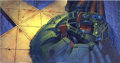 Original Comic Art:Miscellaneous, Heavy Metal 2000 Background Original Art (Heavy Metal, 2000).Sombre and enigmatic, this stunning, hand-painted background i...