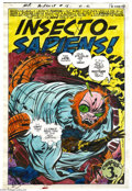 Original Comic Art:Miscellaneous, Jack Kirby and Mike Royer - Mister Miracle #16, pages 11 and 18Color Guides Original Art (DC, 1973). Two hand-painted color... (2Original Art)