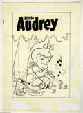 Original Comic Art:Covers, Warren Kremer (attributed) - Playful Little Audrey #15 CoverOriginal Art (Harvey, 1959). That clever Little Audrey finds a ...