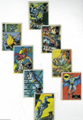 """Memorabilia:Comic-Related, Batman Trading Cards (TCG, 1966) Condition: Average GD. Vintage Batman trading card set of eighty six cards, including the """"... (86 items)"""