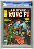 Magazines:Miscellaneous, The Deadly Hands of Kung Fu #29 (Marvel, 1976) CGC NM- 9.2Off-white to white pages. Iron Fist vs Shang-Chi cover andstory....
