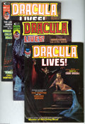 Magazines:Horror, Dracula Lives! And More Group (Marvel, 1973-75) Condition: VF. This group includes #2, 5, 9, 12, 13, and Annual 1, plus Ha... (8 Comic Books)