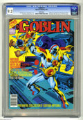 Modern Age (1980-Present):Superhero, Goblin (Magazine) #1 (Warren, 1982) CGC NM- 9.2 White pages. Goblin story continued from The Rook #14. Wizard Wormglow, ...